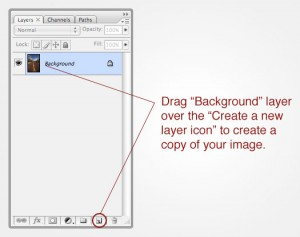 Make a Copy of your Background Layer