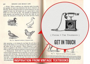 Typography Inspiration from Vintage Text Books